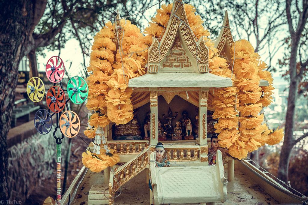 Shrine full of dolls