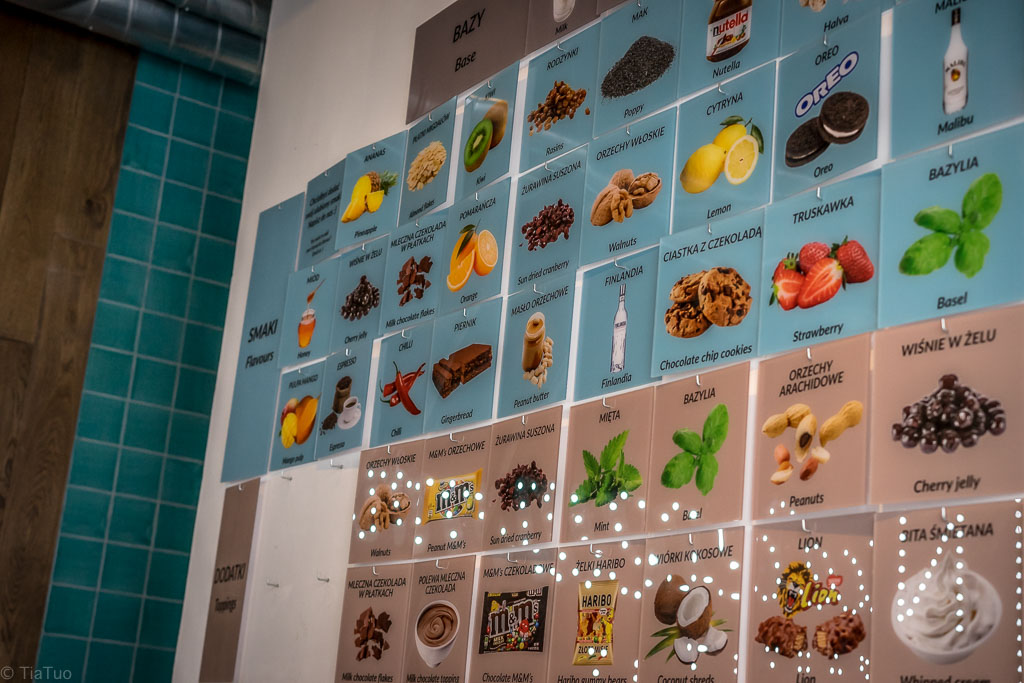 Some of the flavor options at N'ice cream