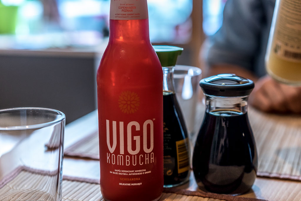 Lovely kombucha with cool design bottle