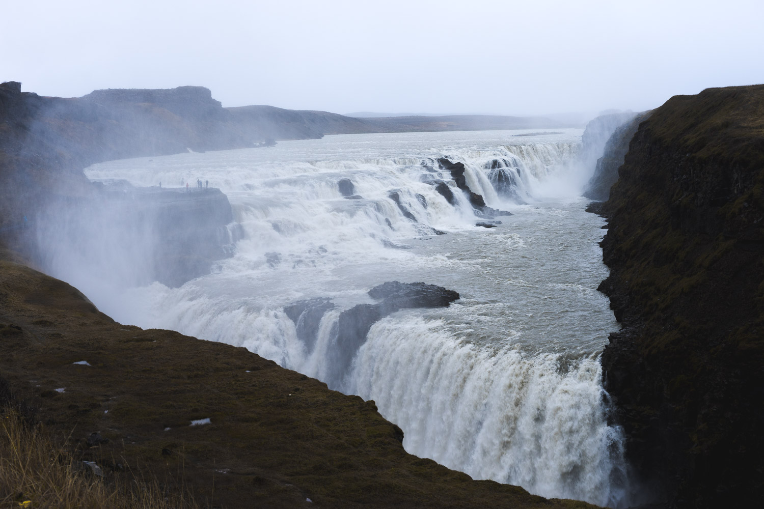 All the glacier mist at Gulfoss
