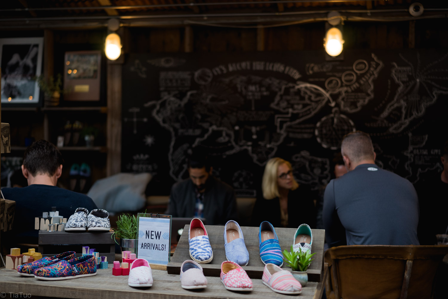 Shoes and coffee at TOMS