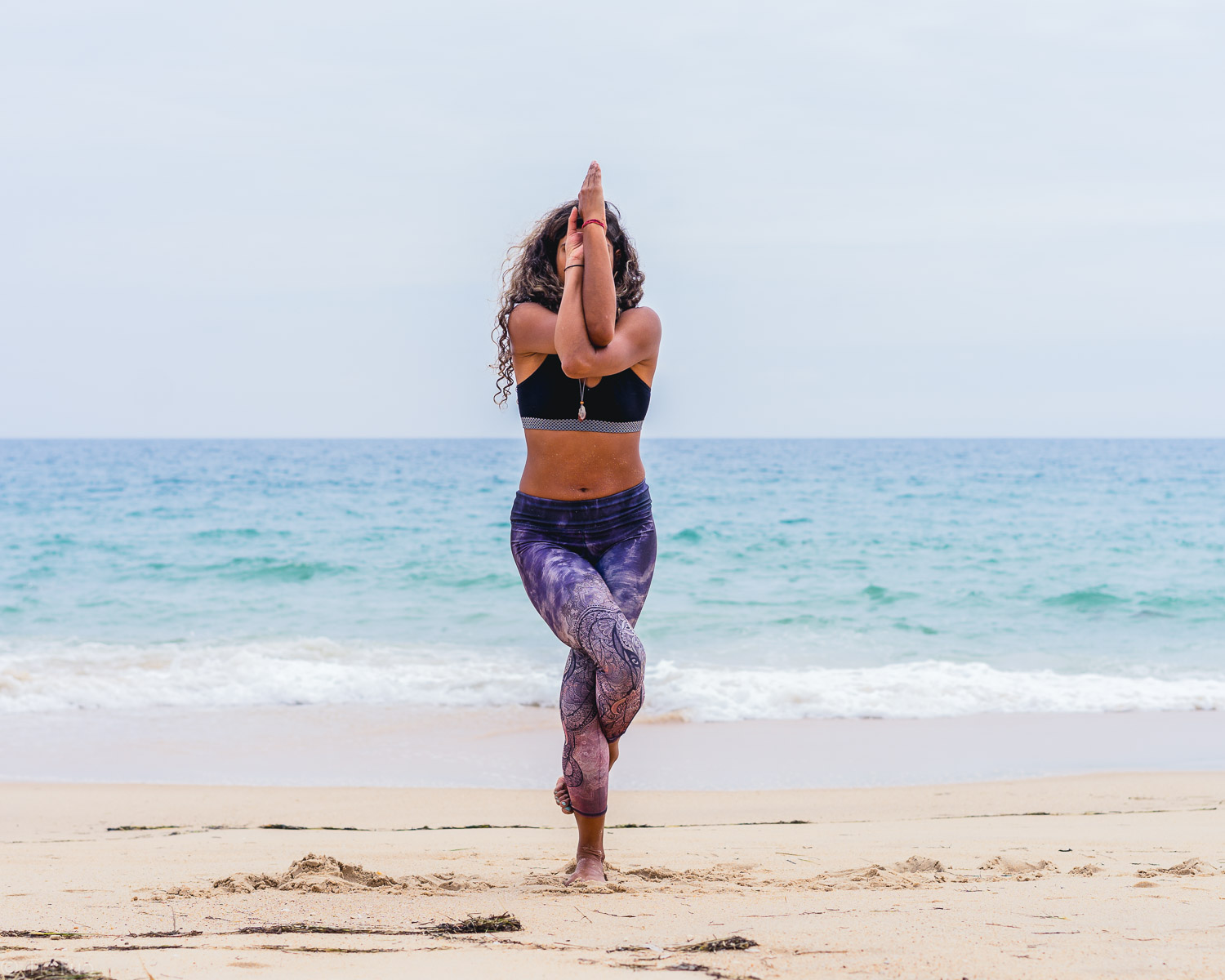 Find balance and stretch in garudasana