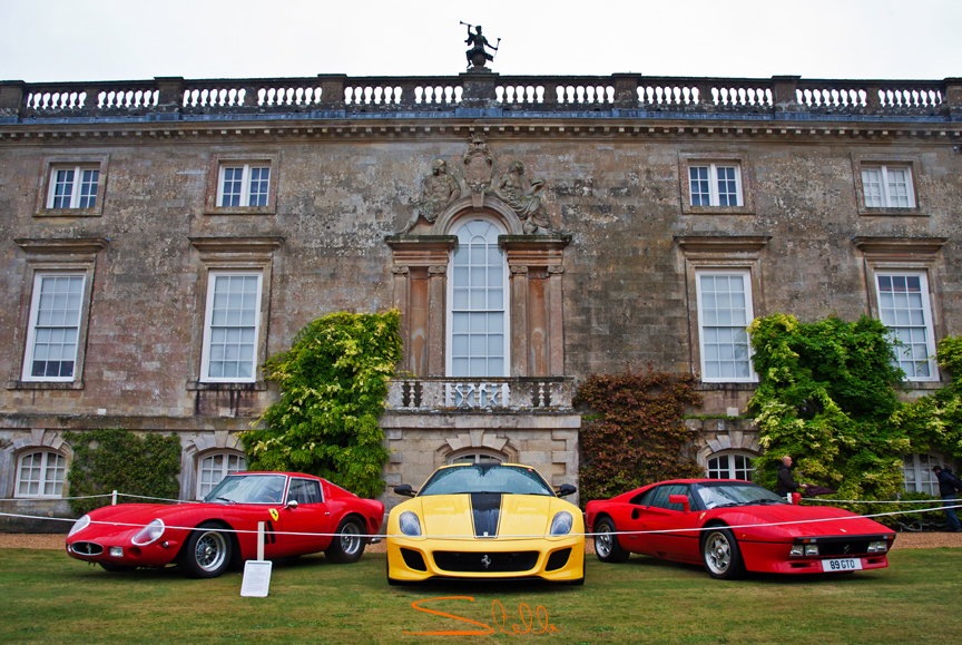 Stella Scordellis Wilton House Ferraris Classic and super cars