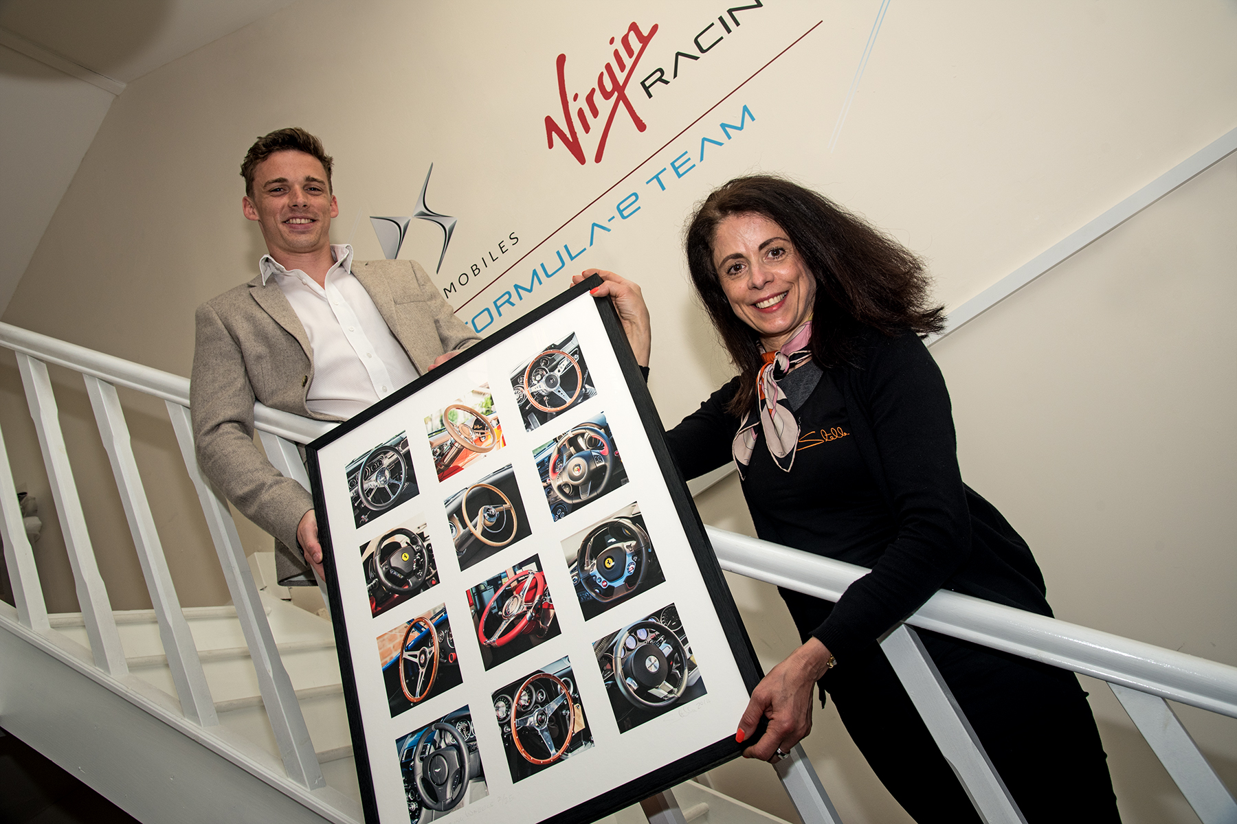 - Ben King the winner of the limited editionphotograph 'Steering Wheels' presented to himby Stella at his place of work.Ben correctly identified which make, model and year of each car, the steering wheels belonged to, from his visit to the Elite London Show in June 2016