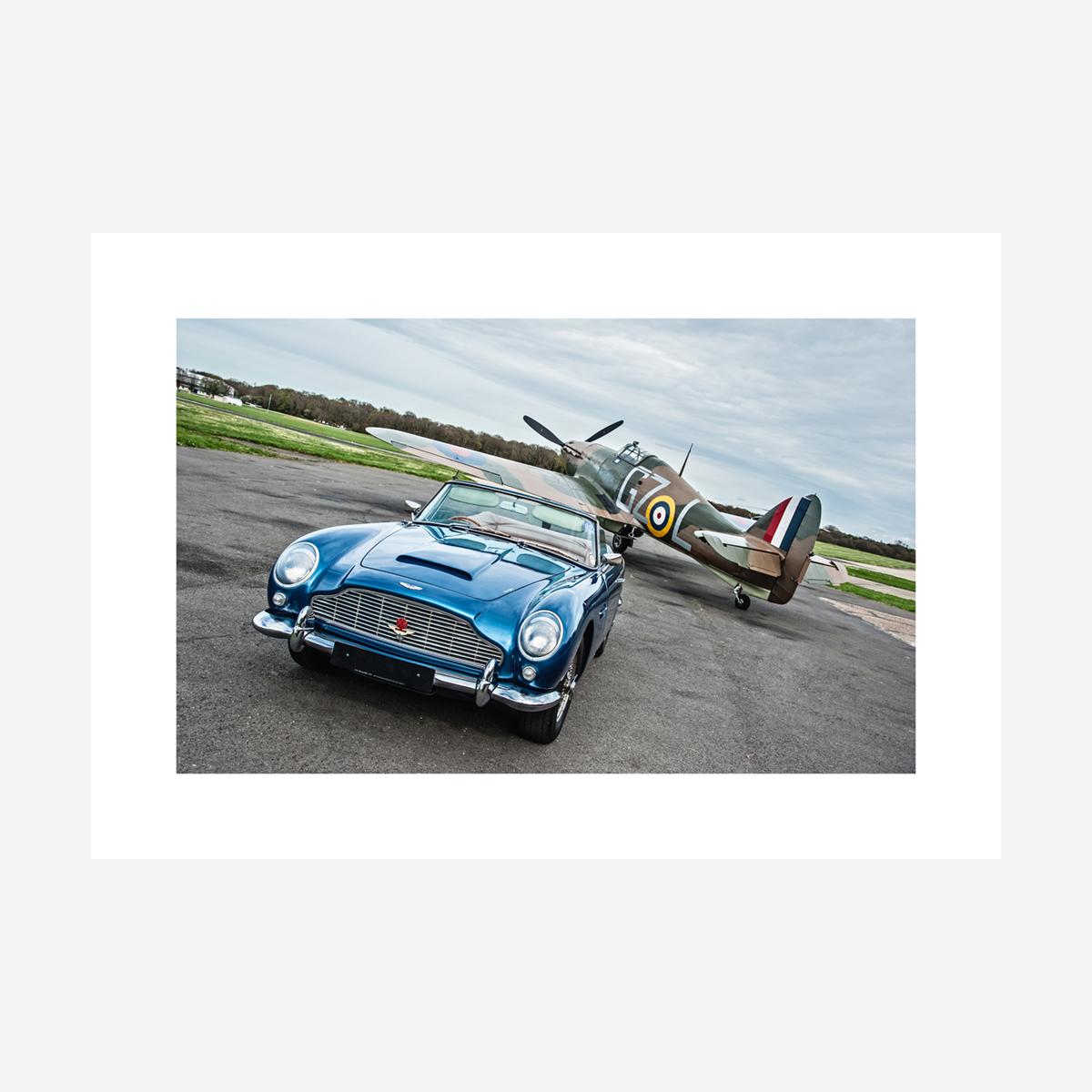 "Aston Martin DB5 & Hawker Hurricane 32"" x 22"""