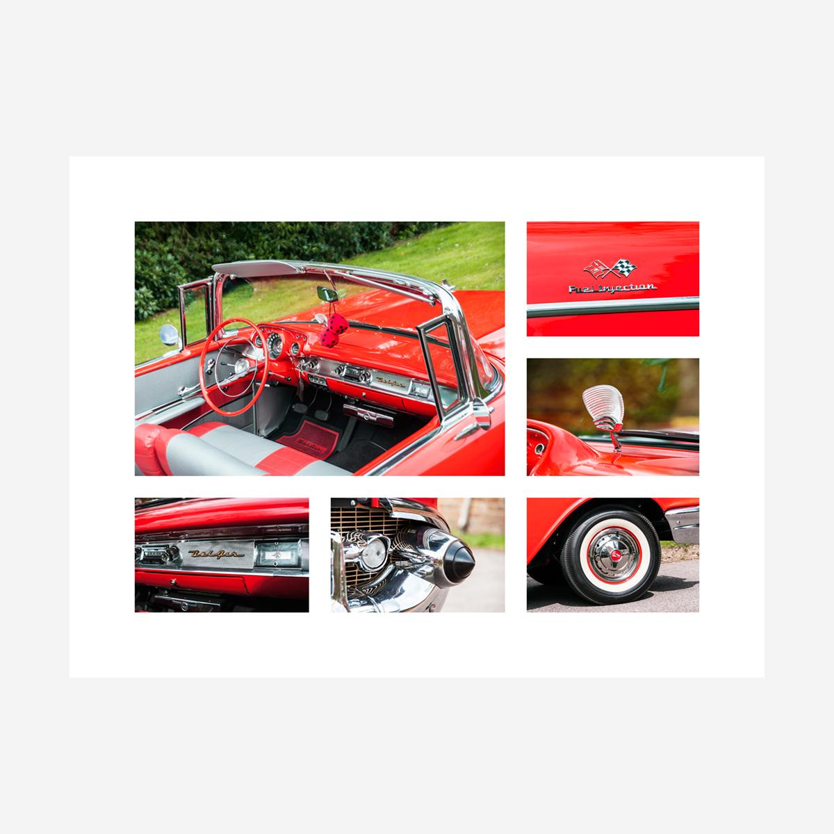 "Chevrolet Bel Air Convertible Details 32"" x 24"""