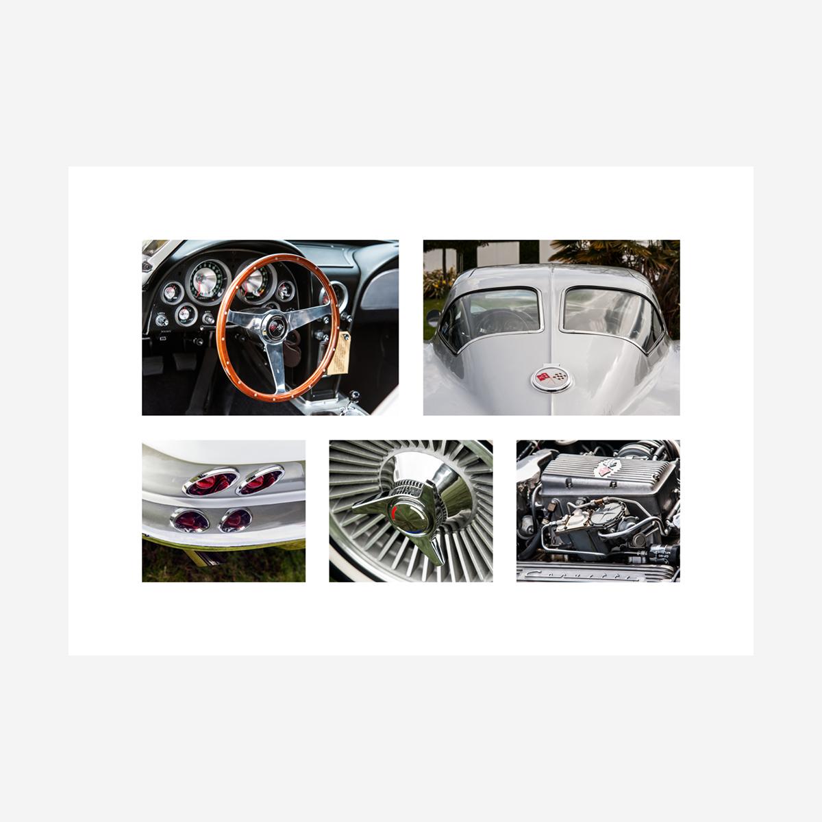 "Chevrolet Corvette Stingray Details 28"" x 20"""