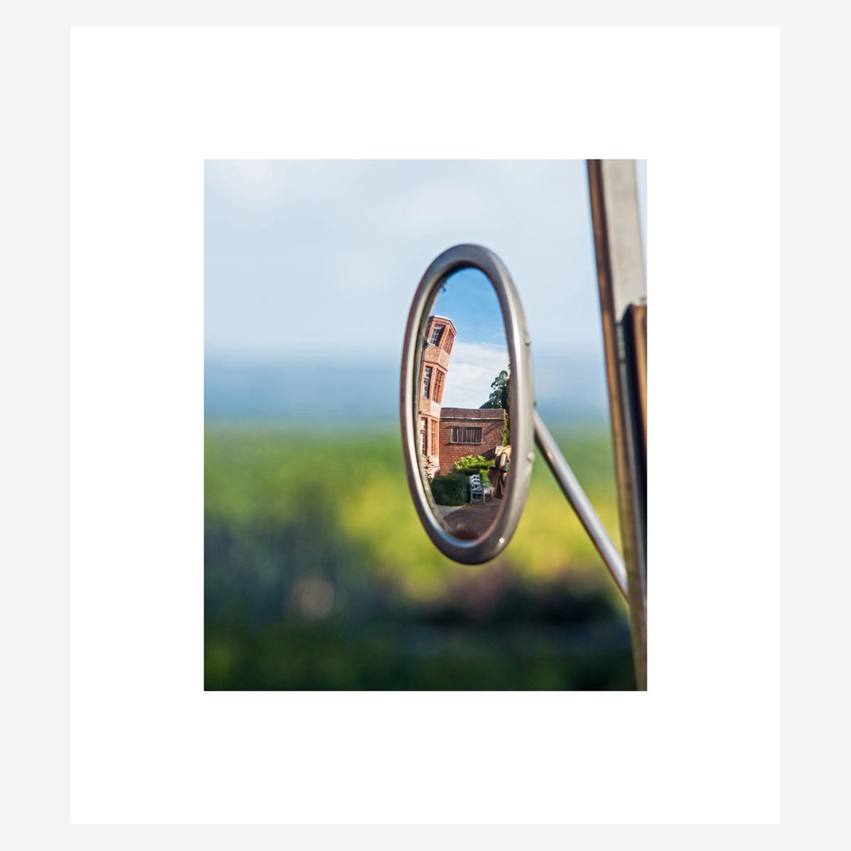 """Lanchester 40 HP Mirror 18"""" x 16"""""""