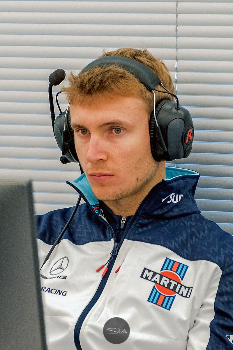 Sergey listens carefully during the engineering briefing