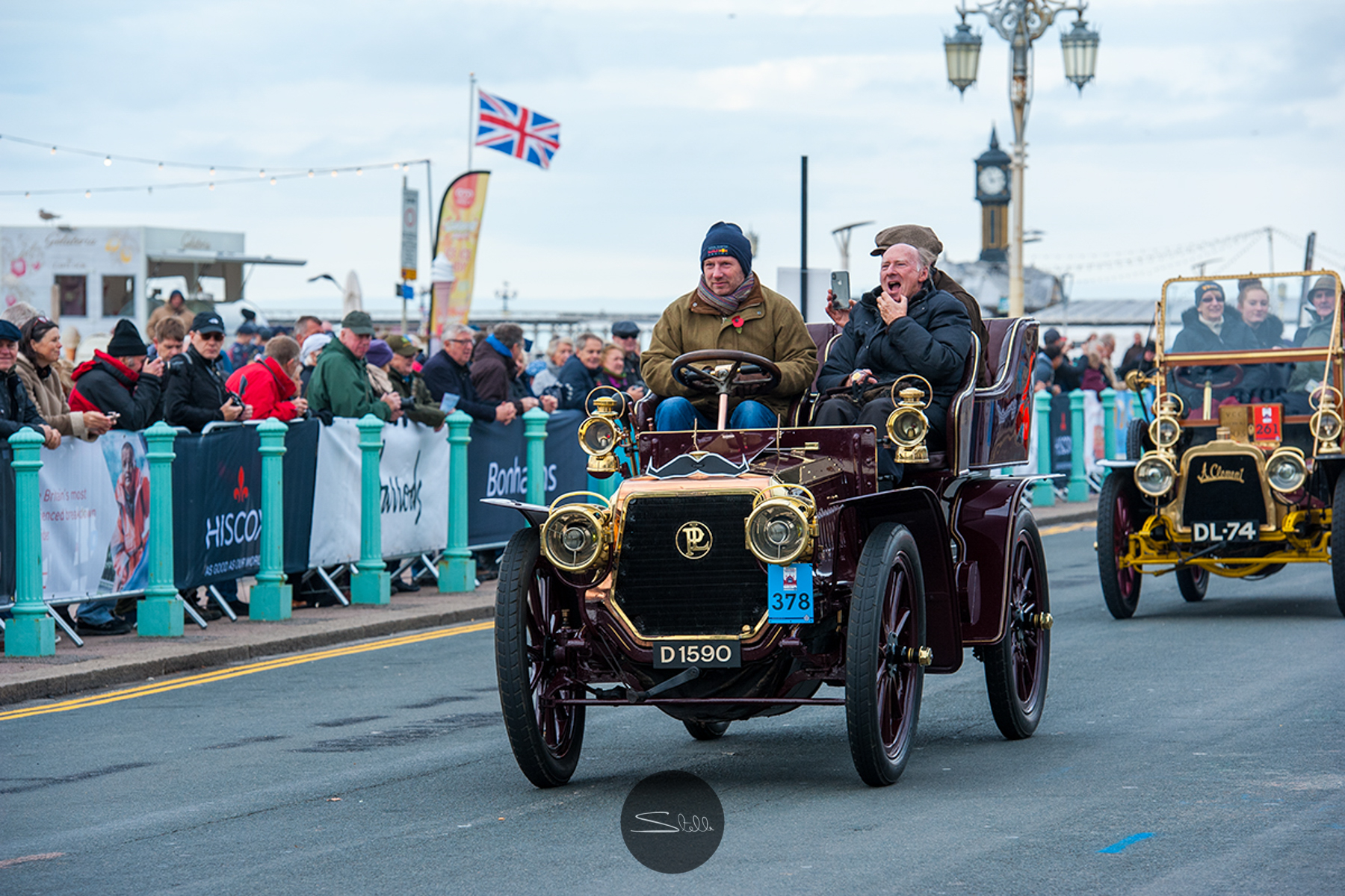 Christian Horner, Team Principal of the Red Bull Racing Formula One Team, driving a 1904 Panhard et Levassor owned by Lord Irvine Laidlaw, 4 Cylinders 15 HP.