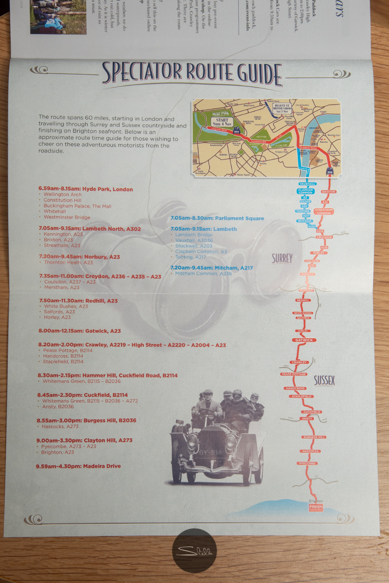 Route Guide showing this year's split route to ease traffic congestion.