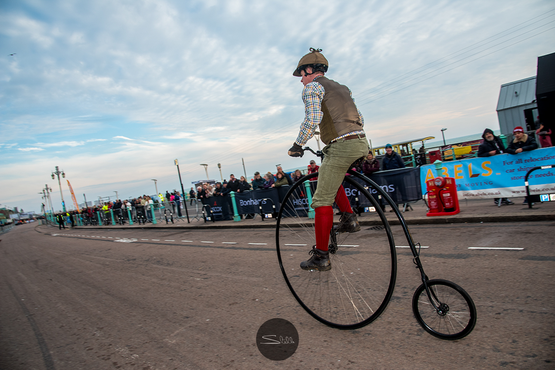 A wonderful Penny Farthing made the journey from London to Brighton.