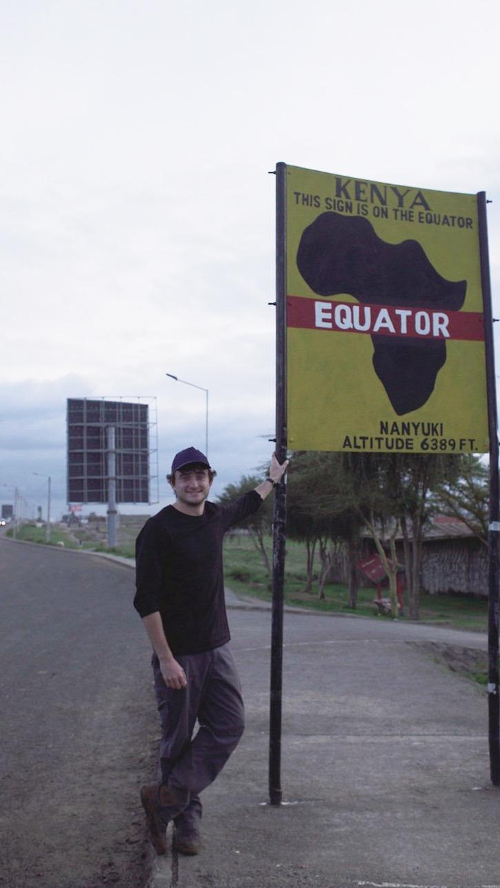 Bucket list territory - standing on the equator!