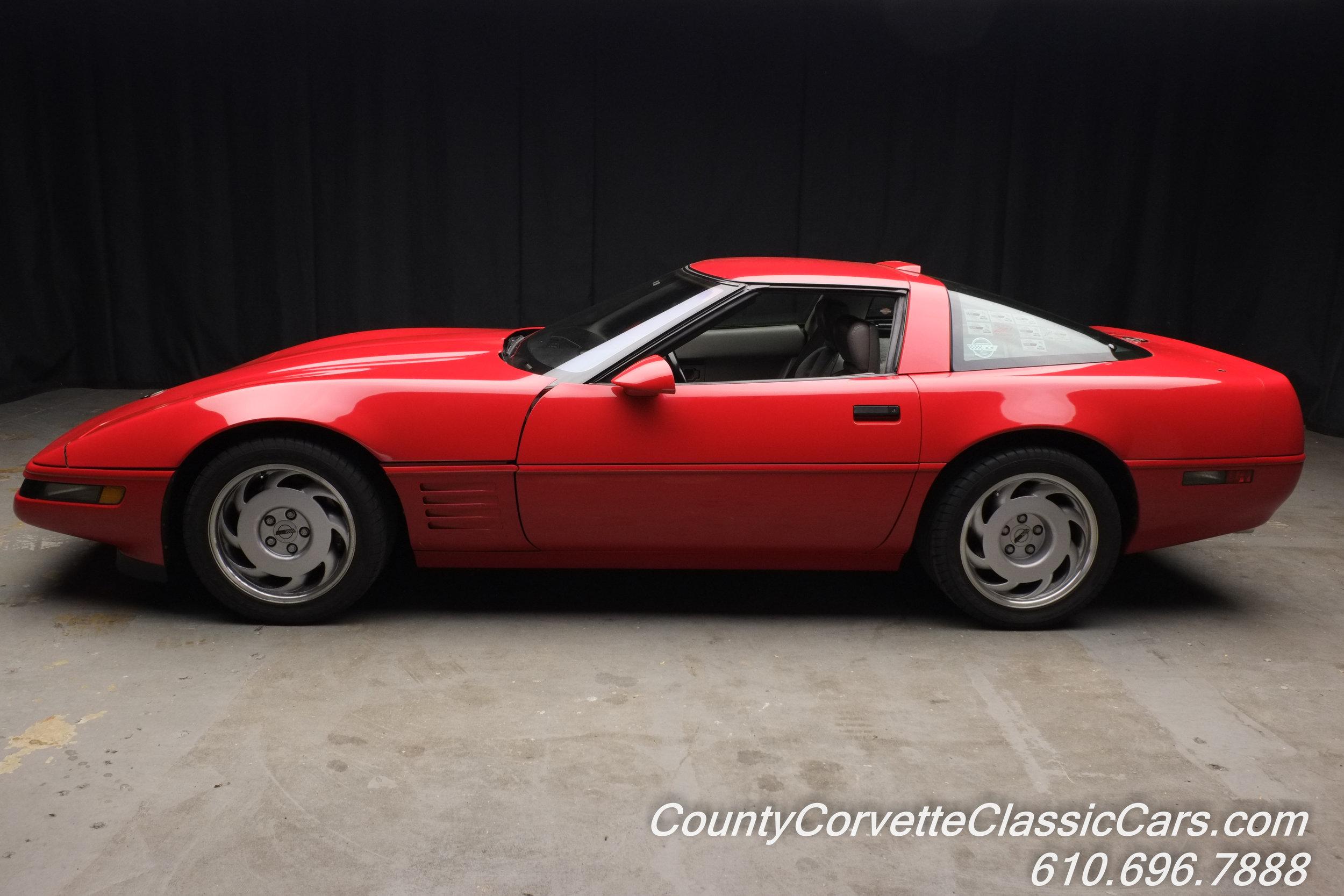 1991 Red Chevrolet Corvette