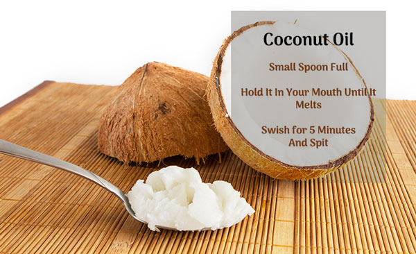 coconut oil - teeth whitening