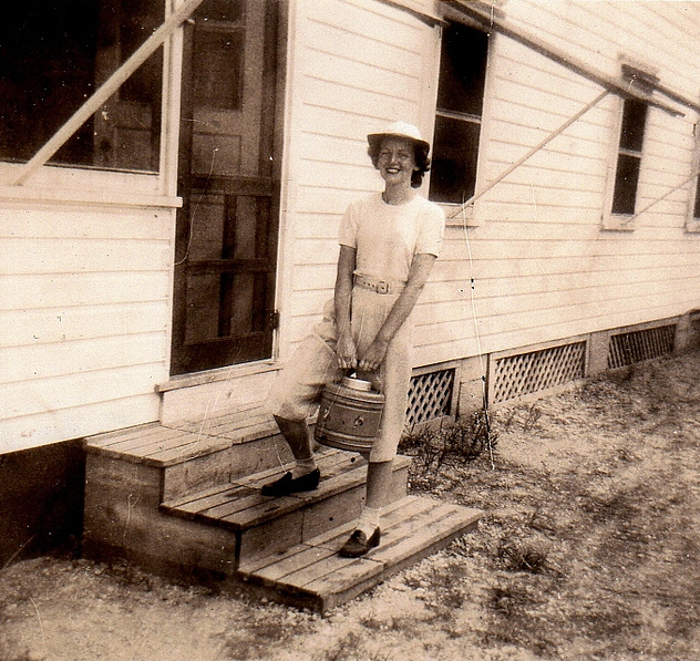 Anne at Tom's River, NY circa 1948