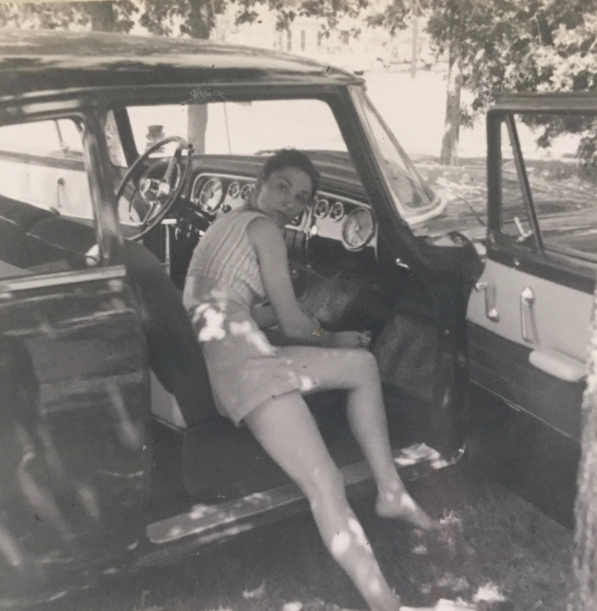 Augusta, mid 1950s, one of many shots of her amazing legs.