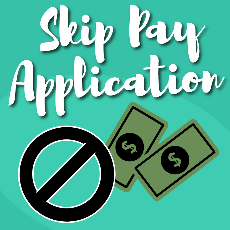 Skip Pay Graphic with Cash