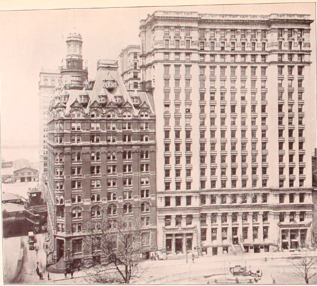 One Broadway next to 11 Broadway, circa 1903