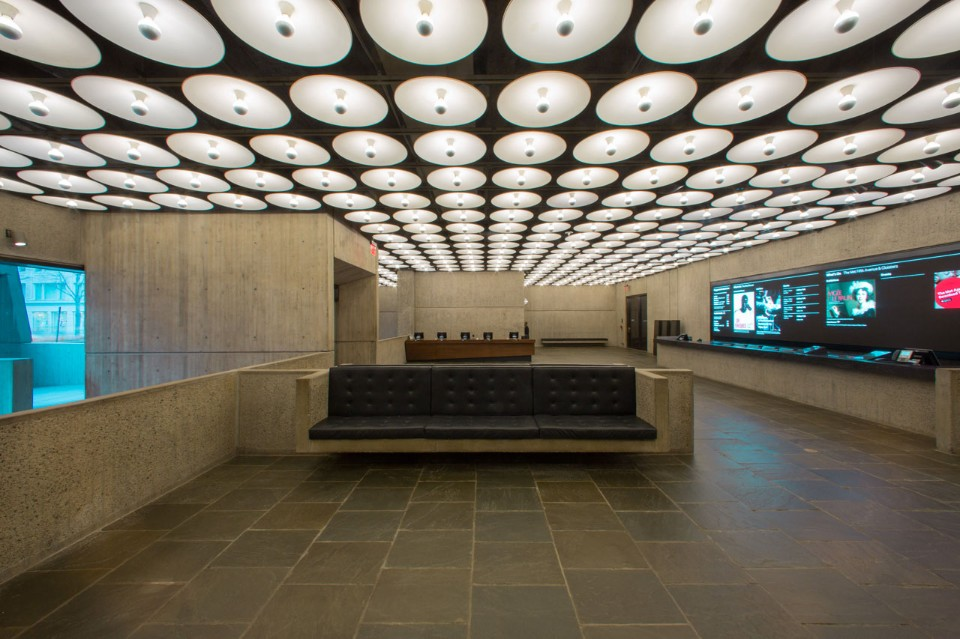 Lobby when the Whitney still occupied the building. Credit: The Metropolitan Museum of Art, 2016.