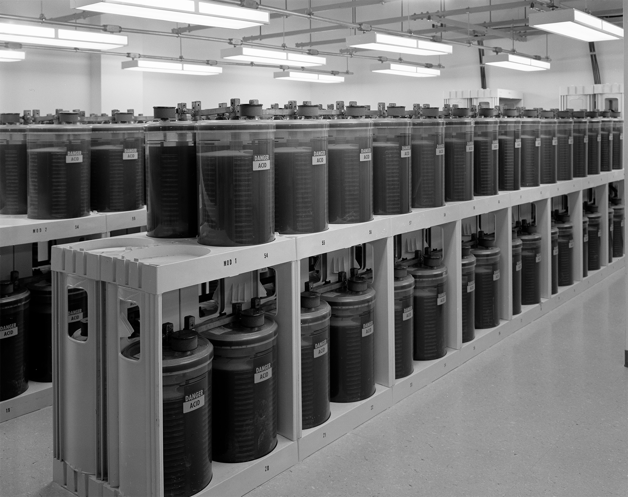 Backup batteries fill entire rooms of 33 Thomas, stored in case of an emergency. Credit: Stanley Greenberg via The Intercept.