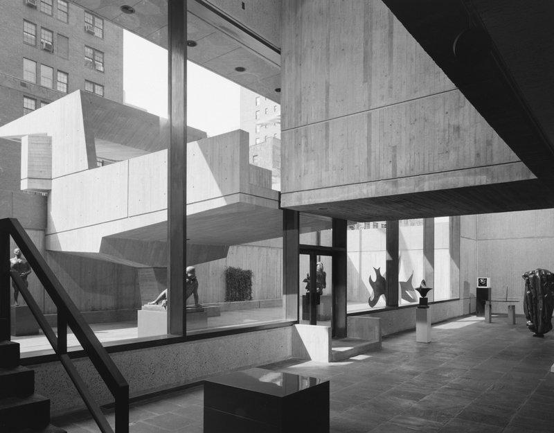 The Met Breuer's sunken sculpture court. Credit: Ezra Stoller.