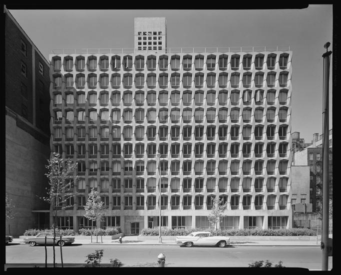 Nagler Hall, 1964. Credit: Museum of the City of New York .