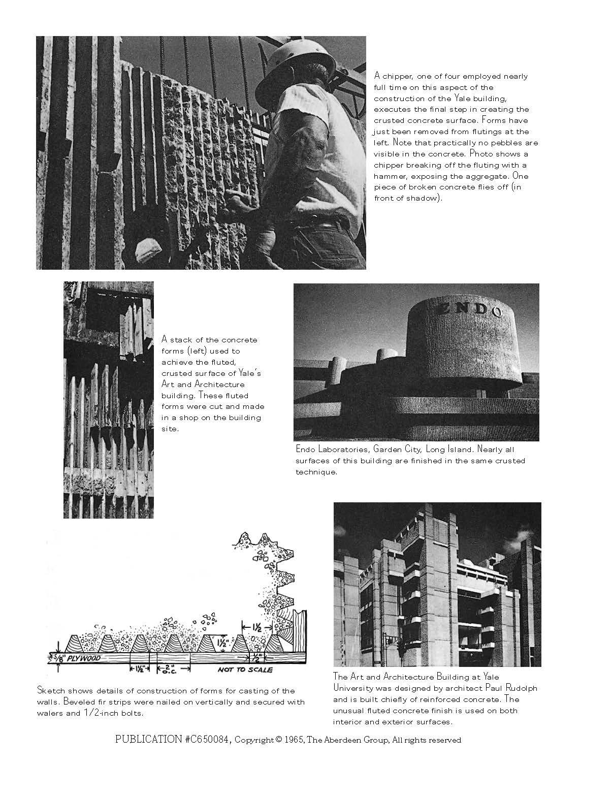 ( Paul Rudolph's Fluted Concrete Buildings.  Concrete Construction,  April 01, 1965.)