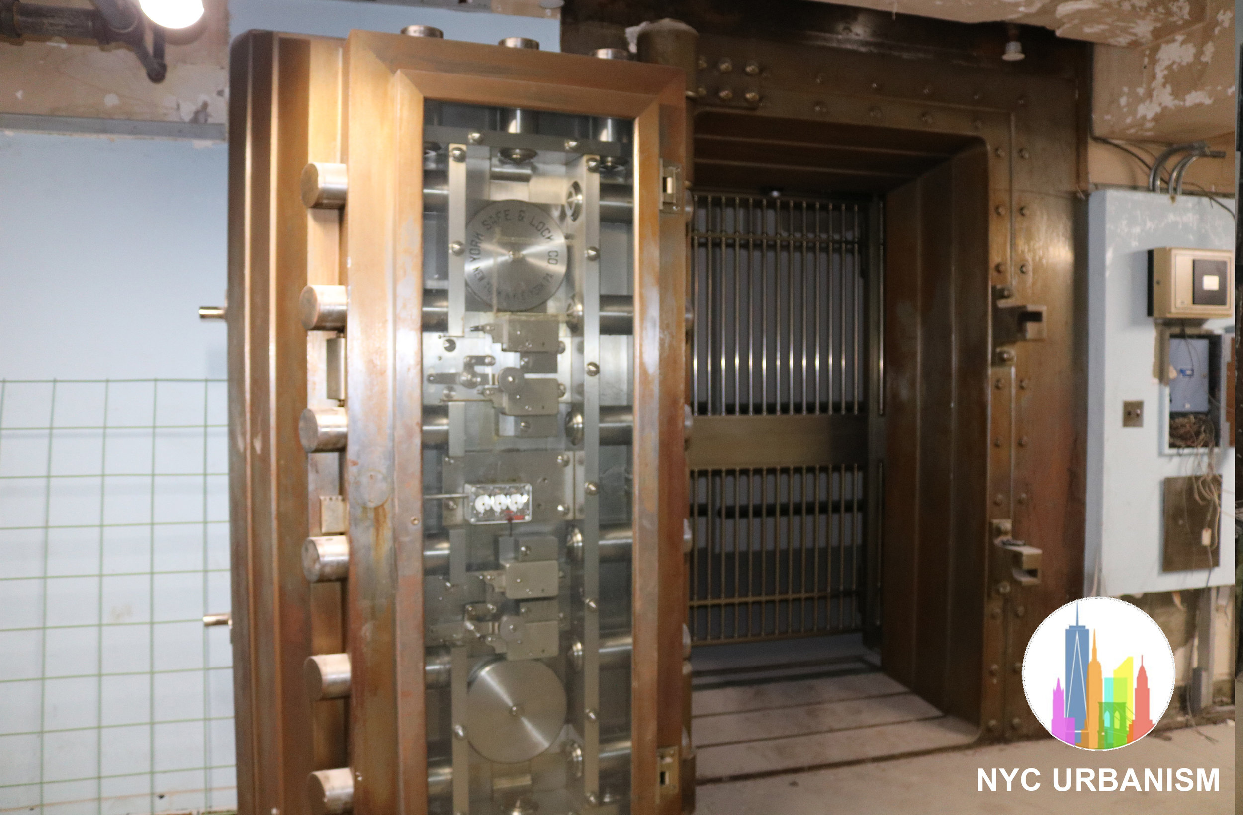 One of 16 bank vaults