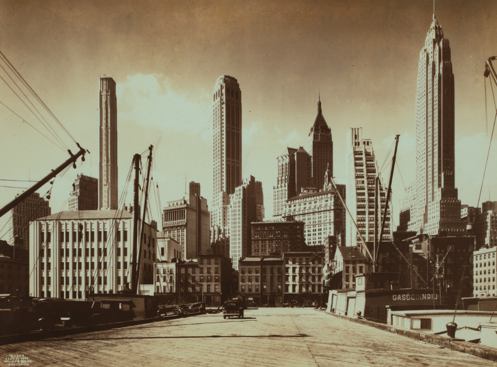 View from the East River Piers, September 17, 1932.