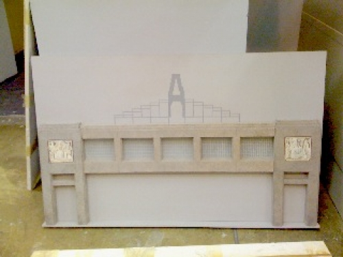 Model Showing Solomon's Throne Sculpture Atop Bridge of Sighs