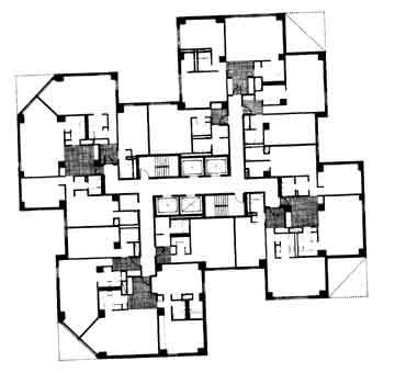Floor plan - lower floors