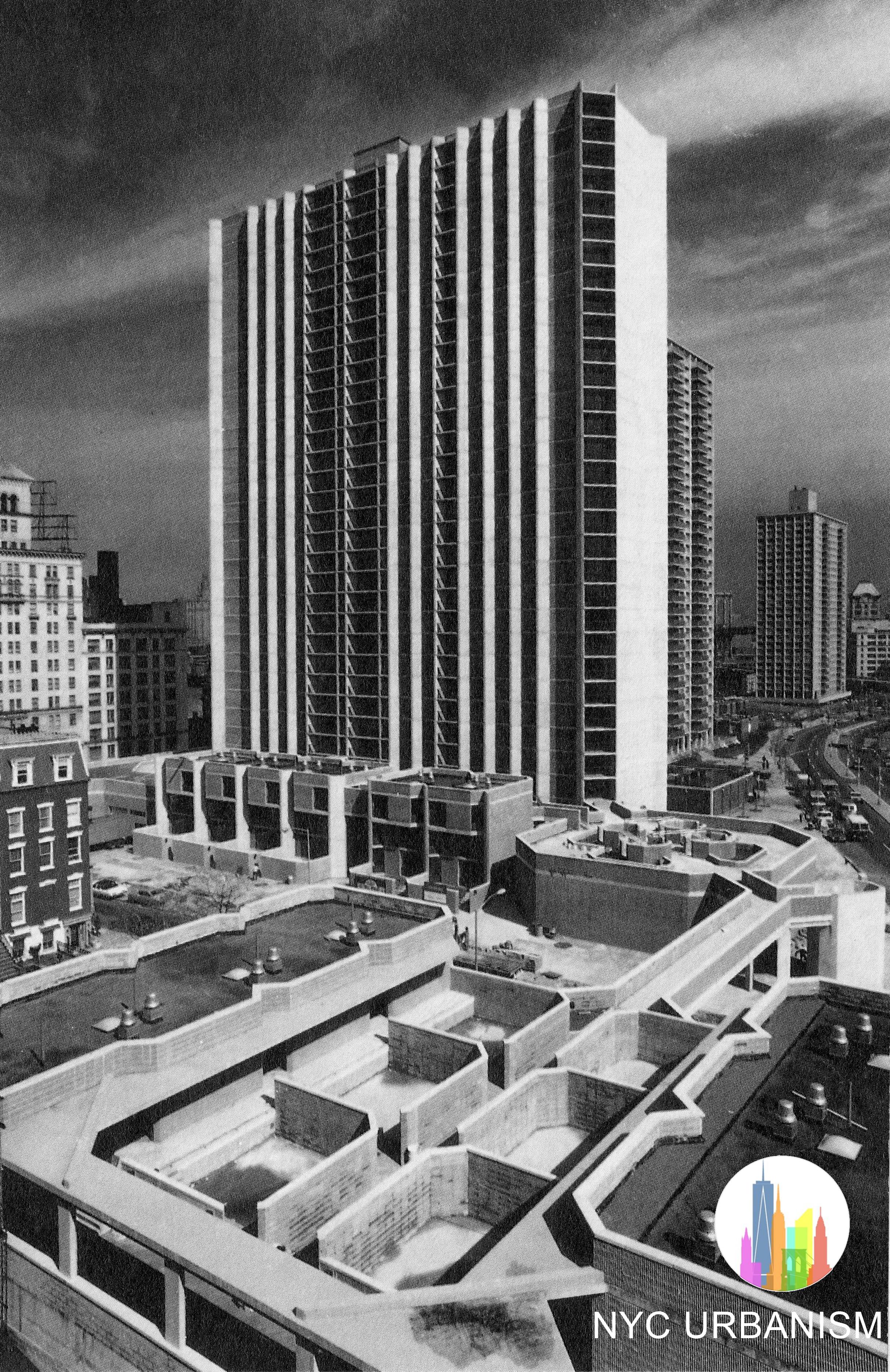 Cadman Towers towards the end of construction. Credit: NYC Urbanism.