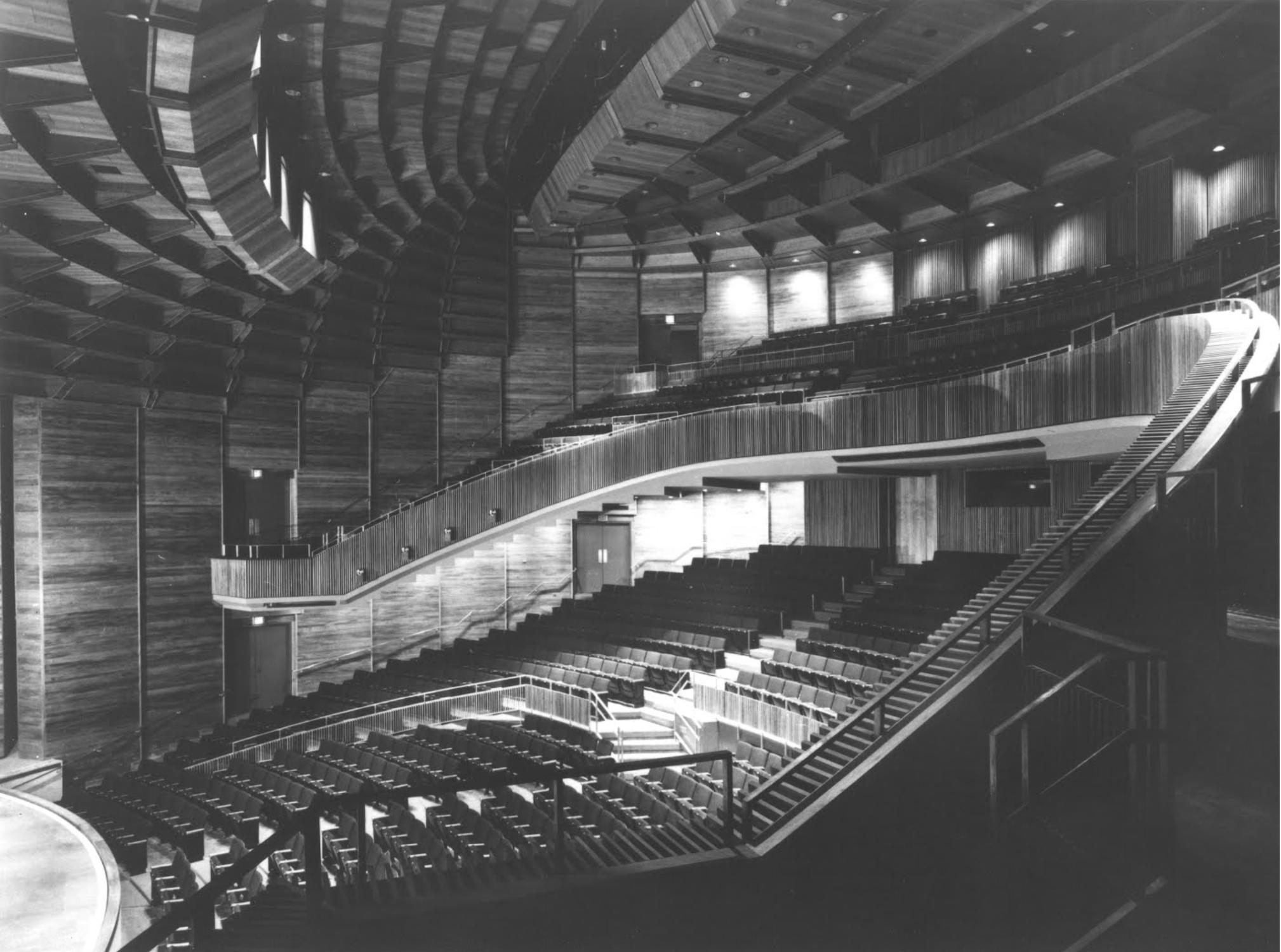 Auditorium of The Juilliard Theater, which seats 1,026.