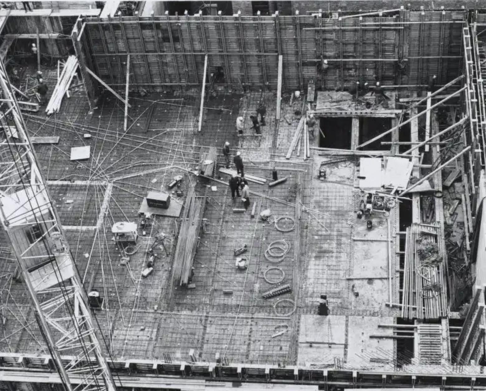 Construction view - reinforced concrete