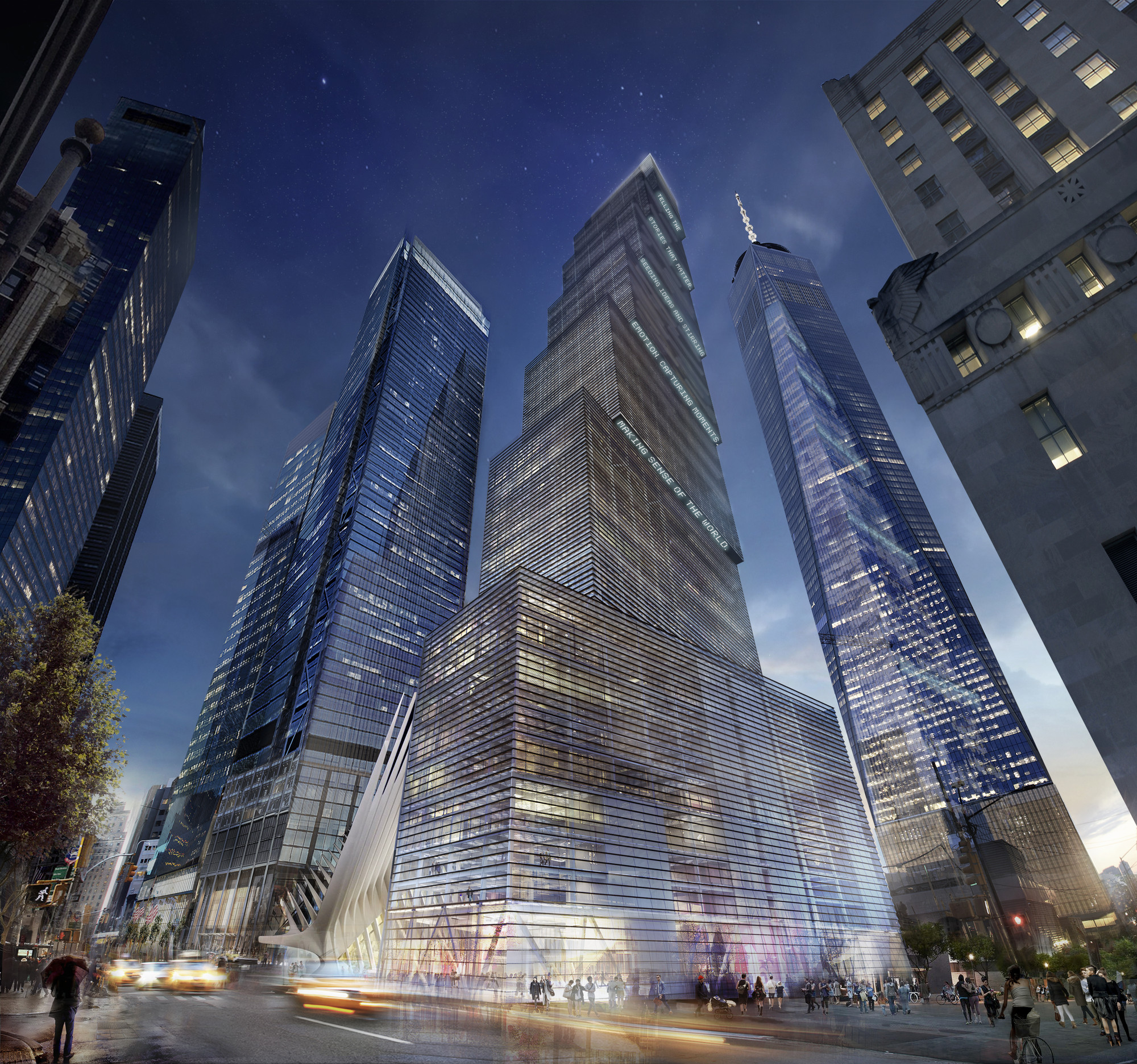 2 WTC by Bjarke Ingels with it stepped profile revealed in 2015