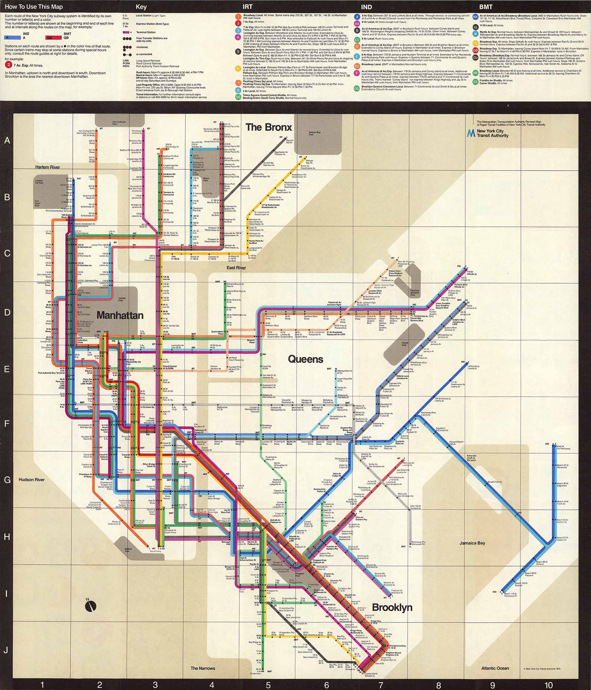 Nyc Subway Map Massimo Vignelli.1972 Vignelli Subway Map Nyc Urbanism