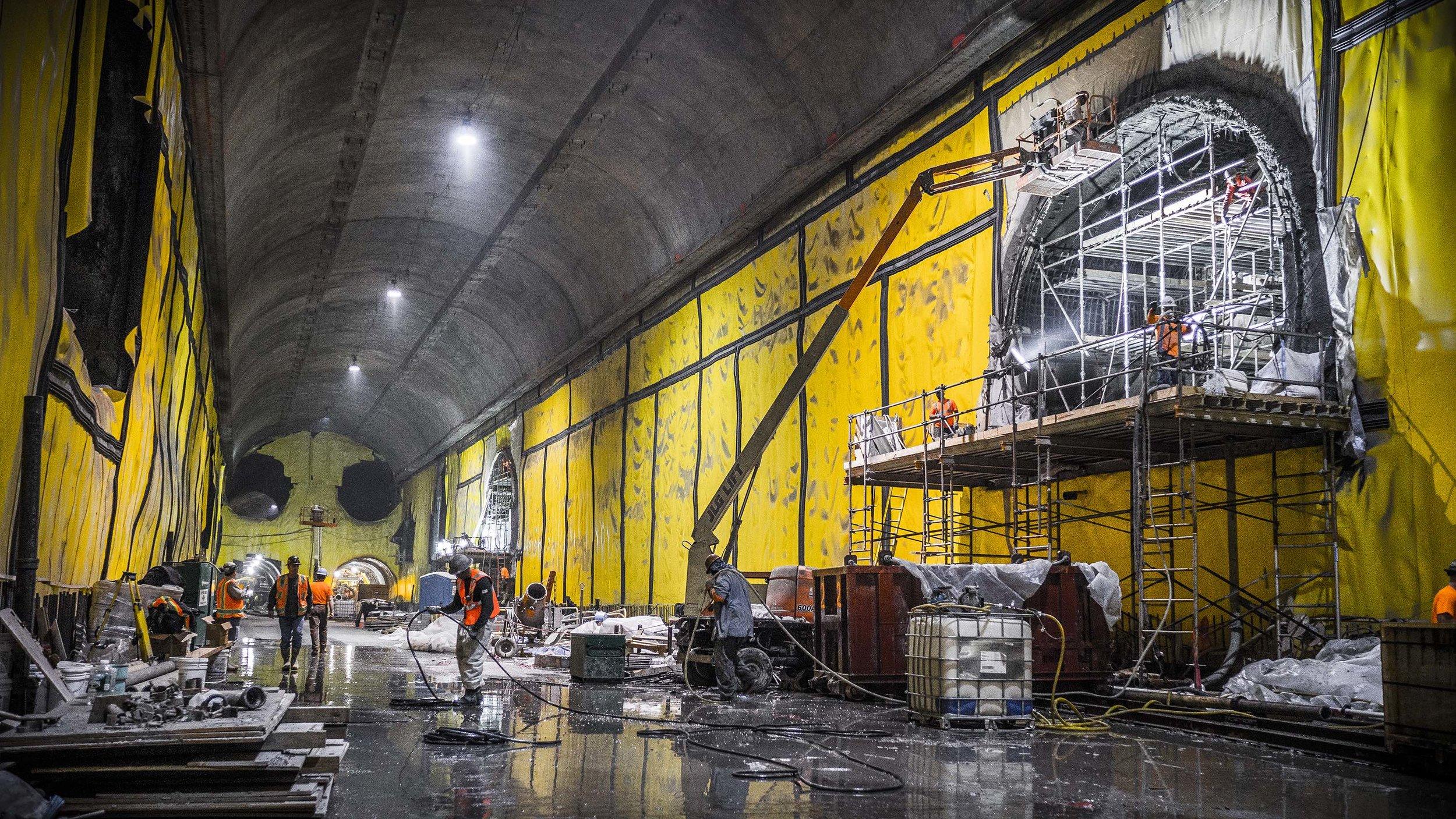 Construction below Grand Central Terminal, May 21, 2014. Credit: MTA Capital Construction / Rehema Trimiew.