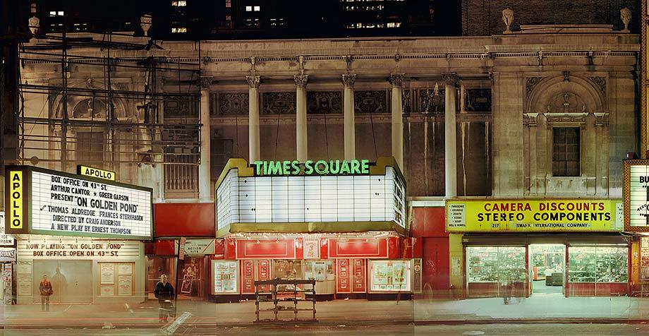 Times Square Theater with the Apollo on the left and retail on the right, 1979.