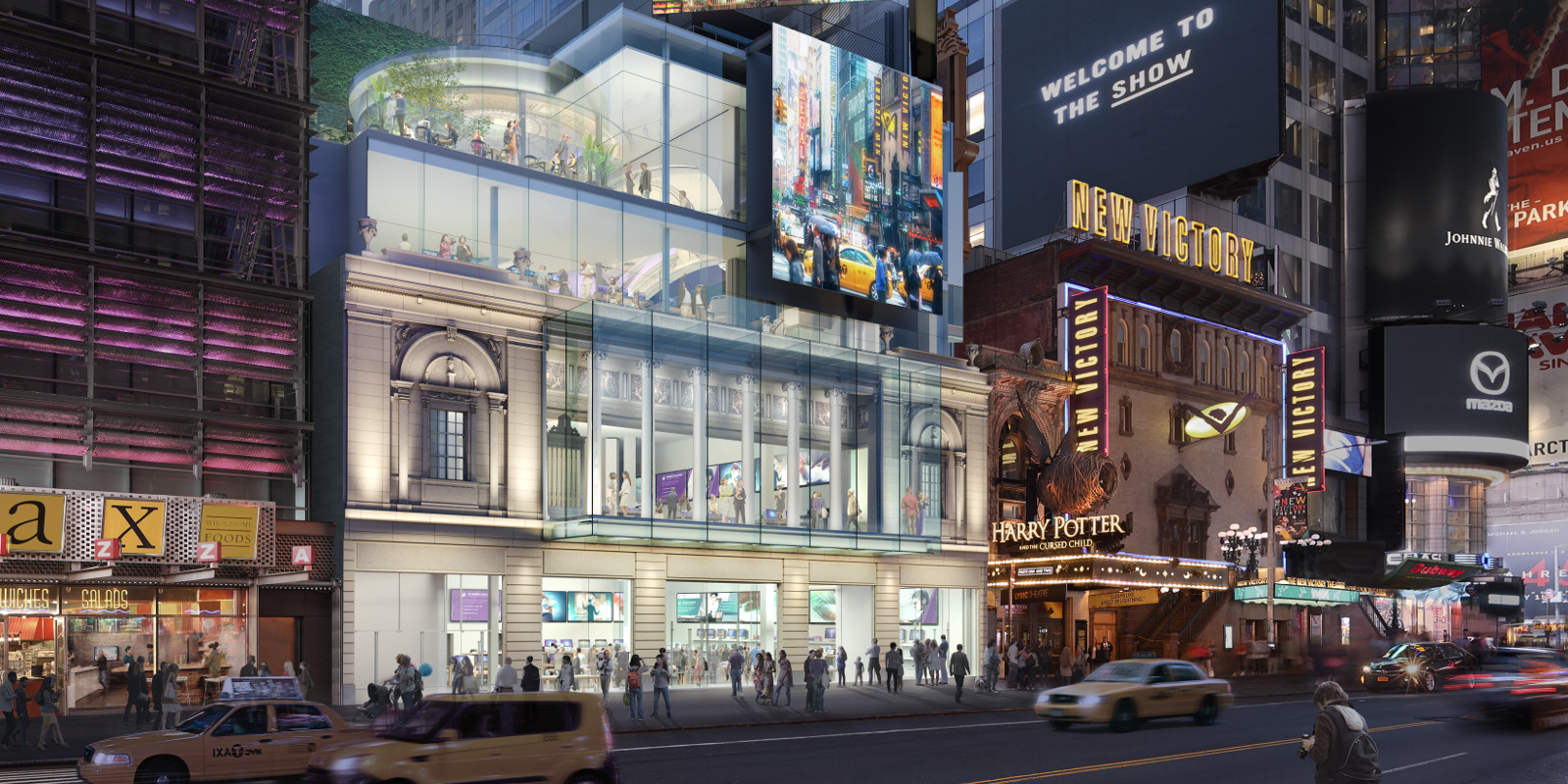 Times Square Theater rendering via Stillman Development International.
