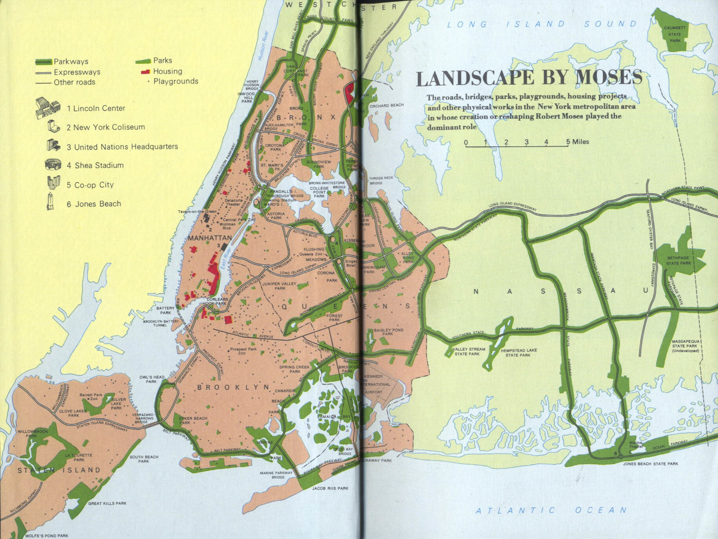 This map originally appeared as the frontispiece of  The Power Broker