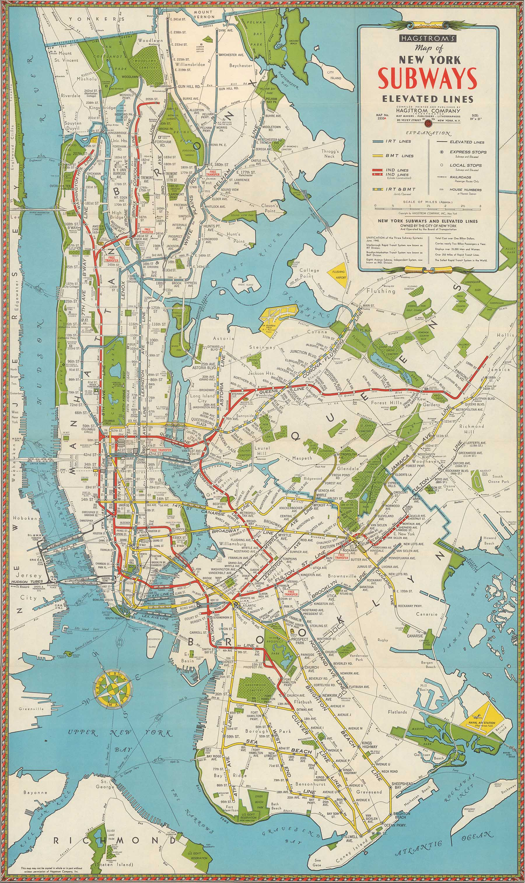 Map Of Nyc Subway With Streets.1942 Subway Map Nyc Urbanism