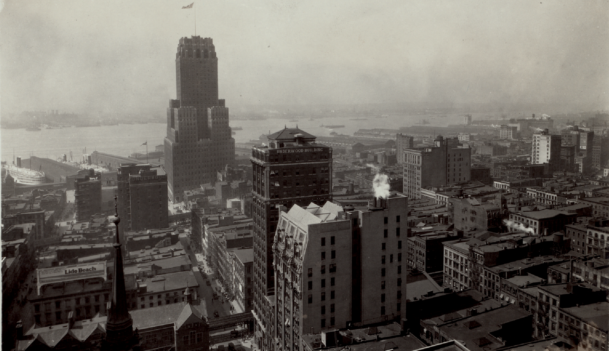 Barclay Vesey Building seen from the Singer Building, 1926.