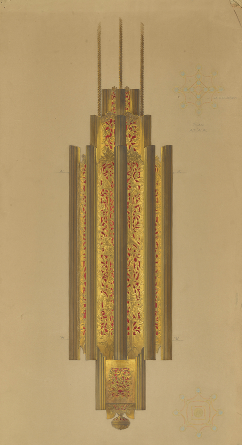 Drawing of lobby chandelier
