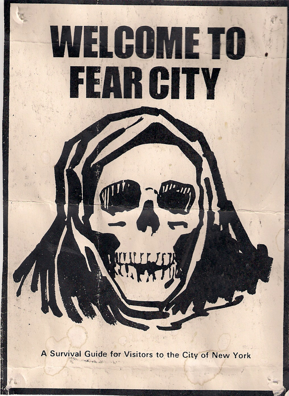 Cover of FEAR CITY survival guide