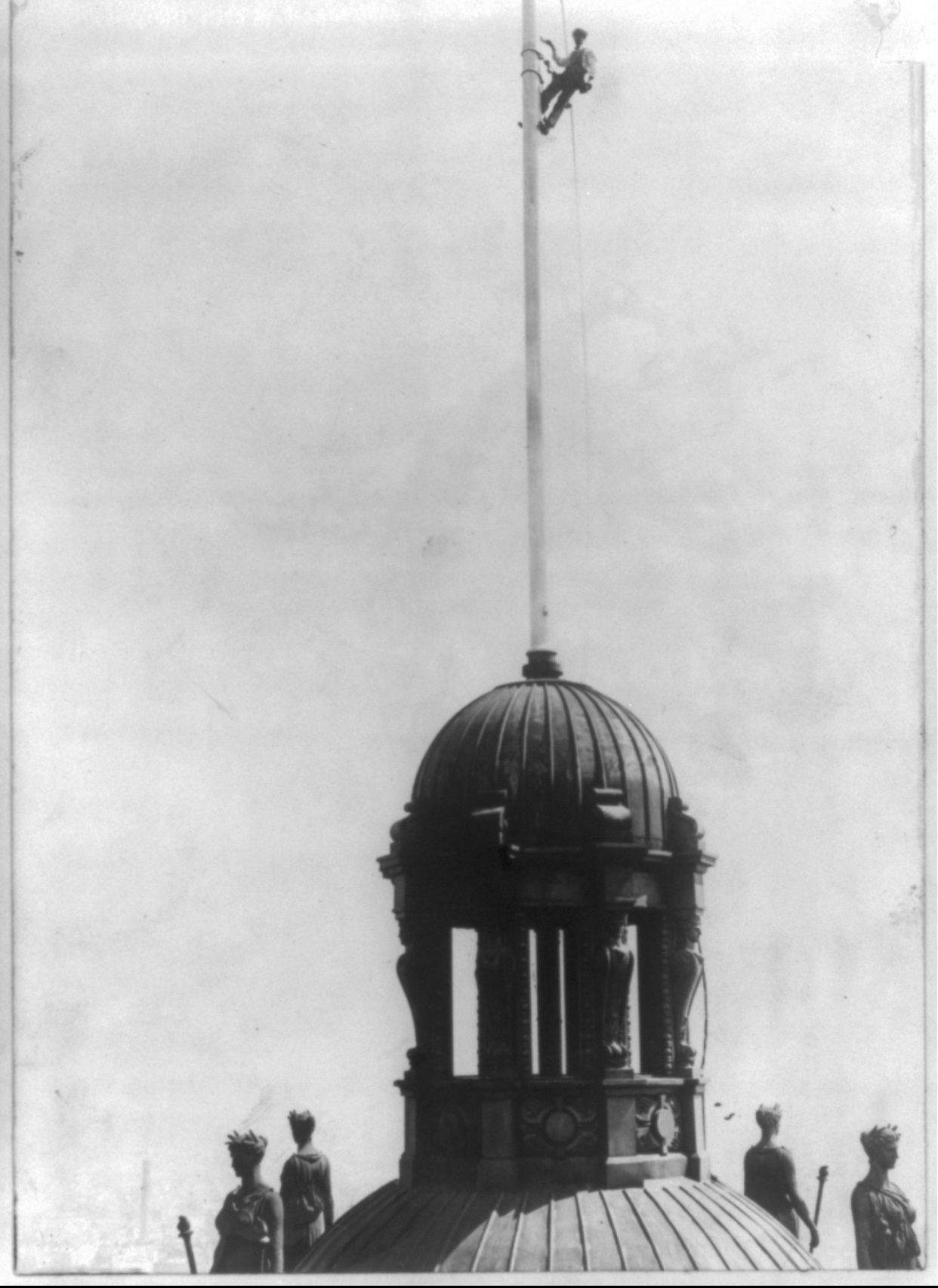 One of two Park Row Building cupolas