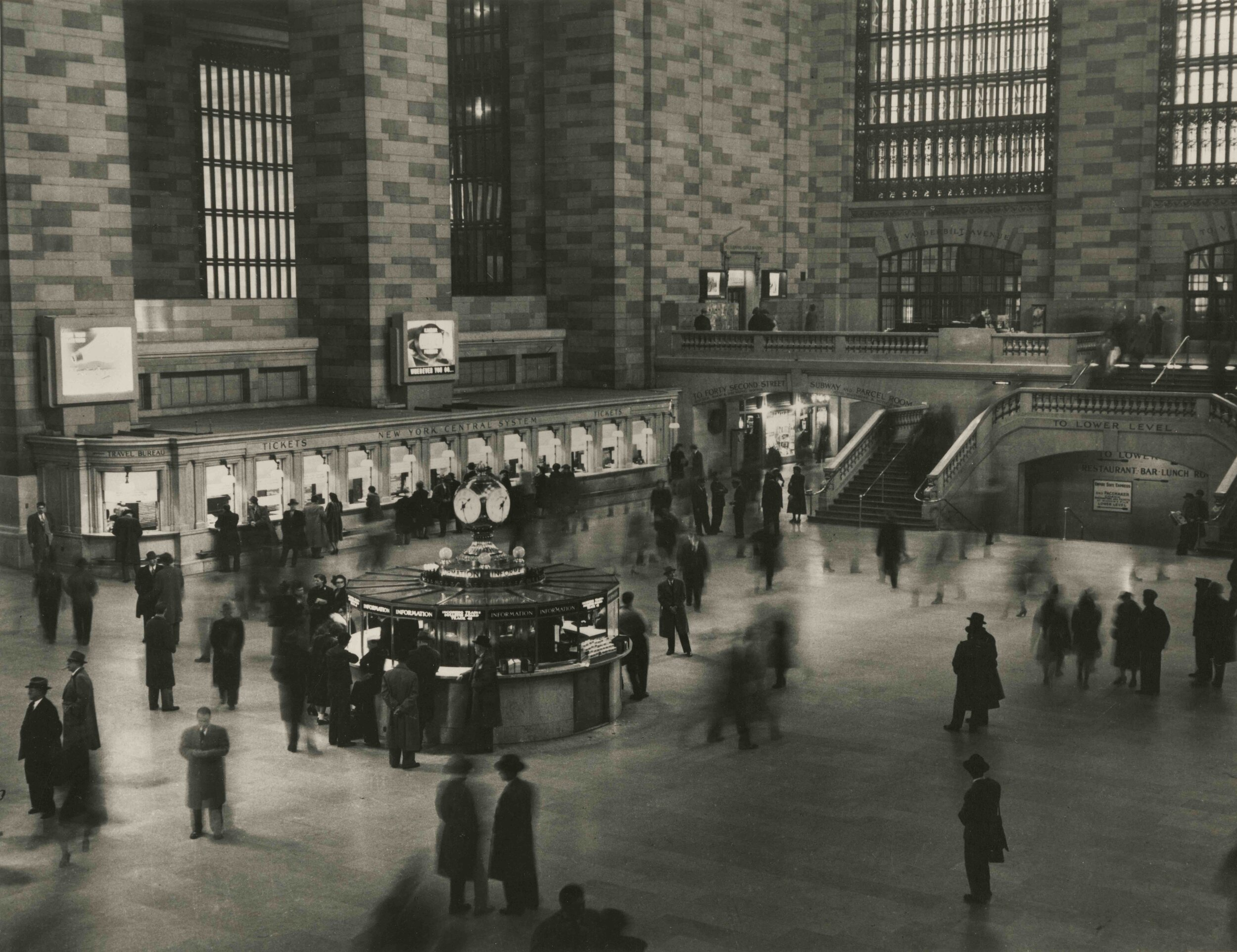 Grand Central Terminal,  1945.