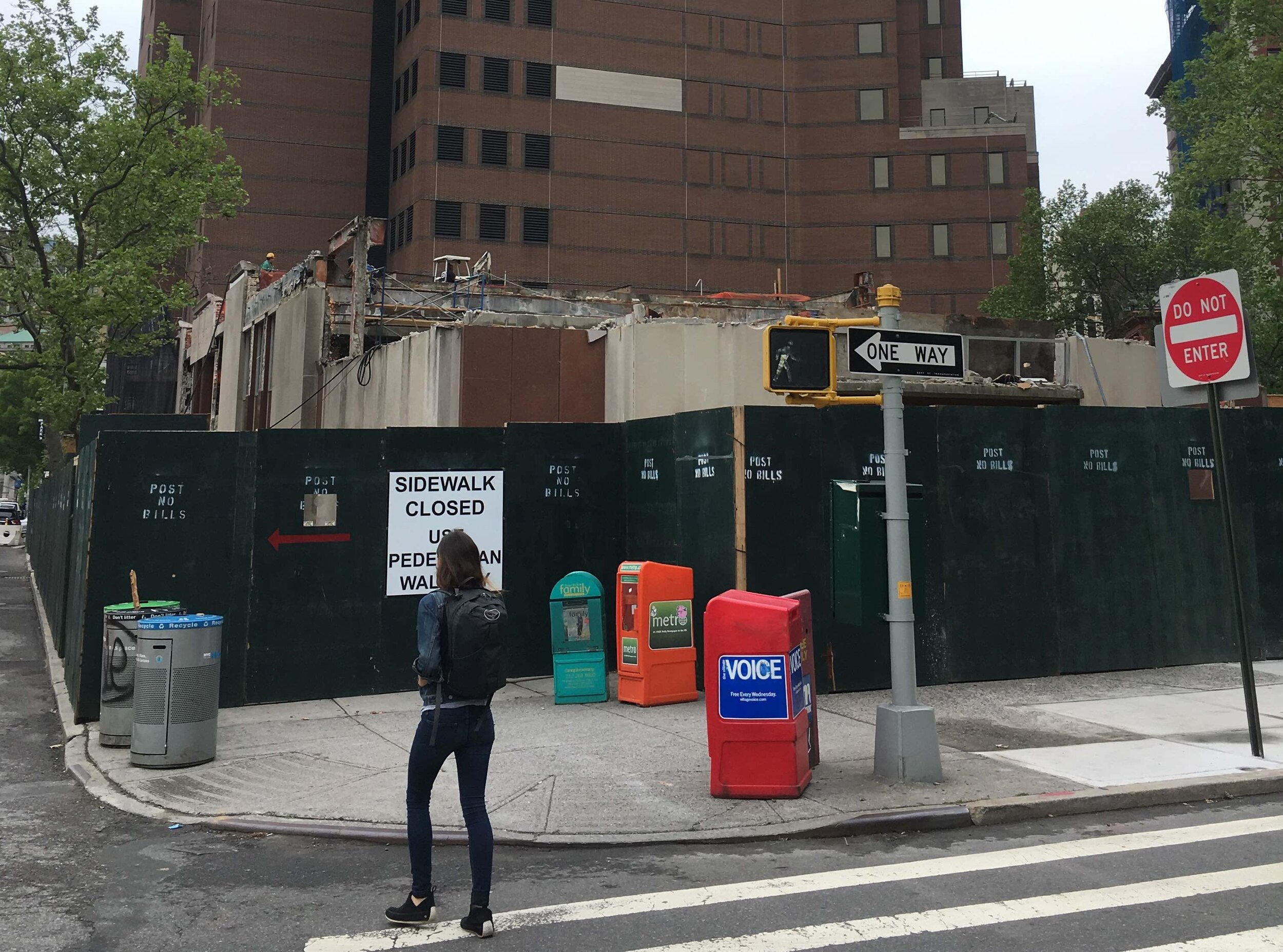 Library demolition. NYC Urbanism, 2017.
