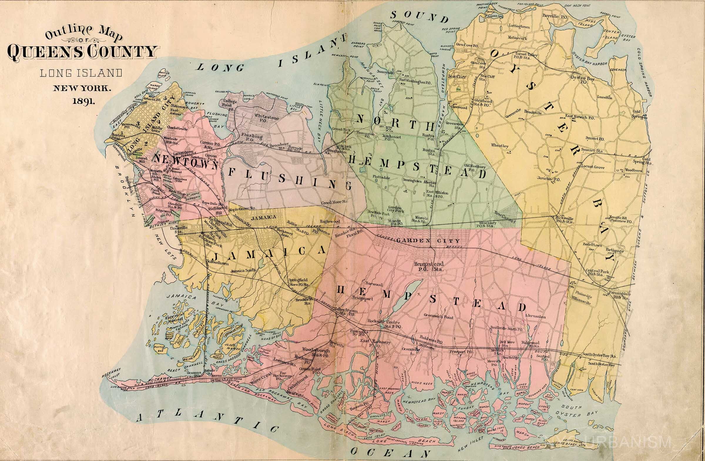 Queens County map, 1891.  Purchase a print here .