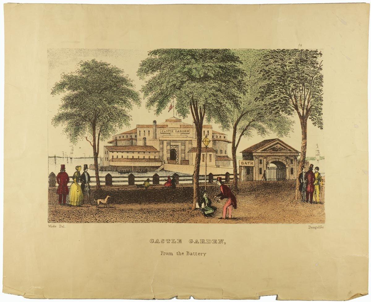 Castle Garden, 1849